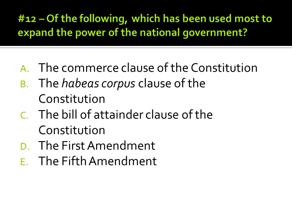 The commerce clause of the Constitution