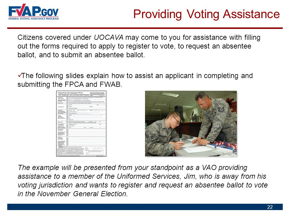 Providing Voting Assistance