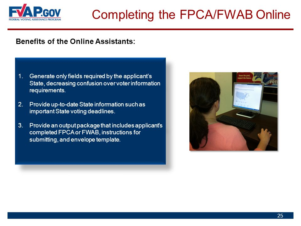 Completing the FPCA/FWAB Online