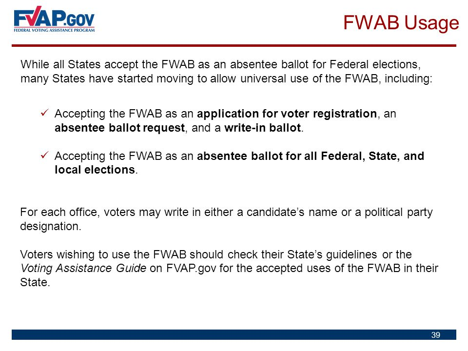 FWAB Usage