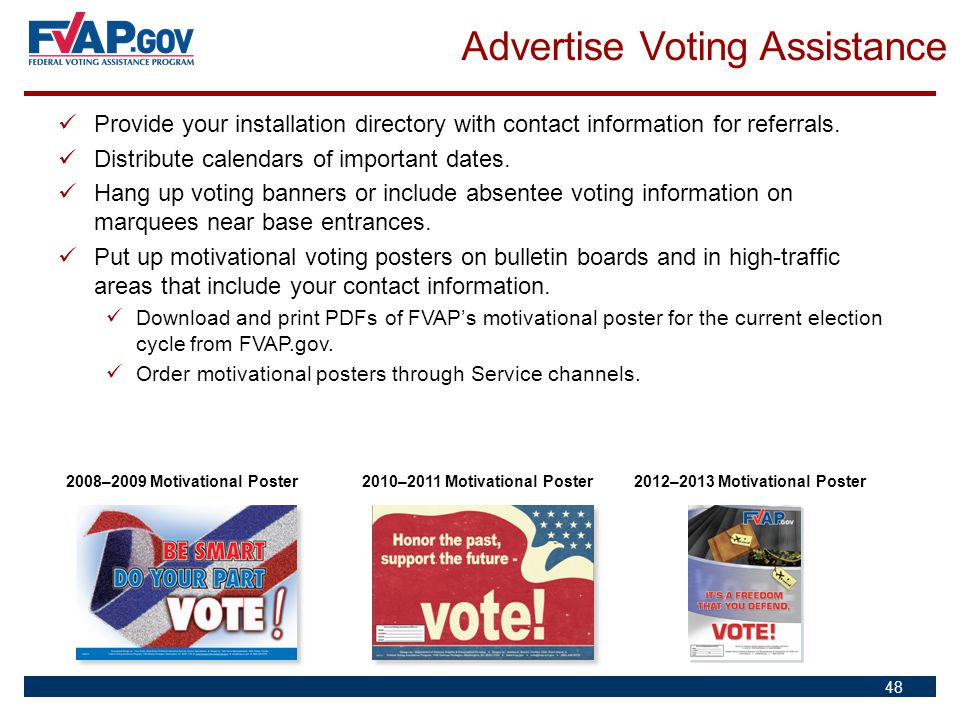 Advertise Voting Assistance