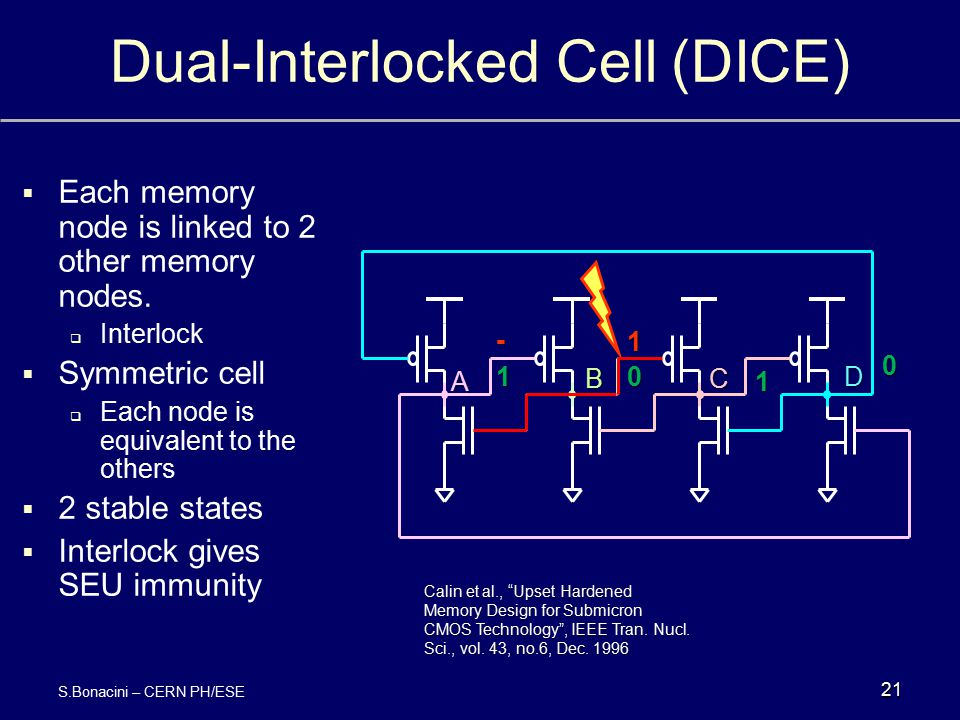 Dual-Interlocked Cell (DICE)