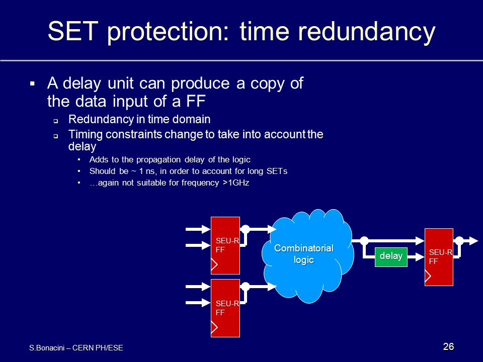 SET protection: time redundancy