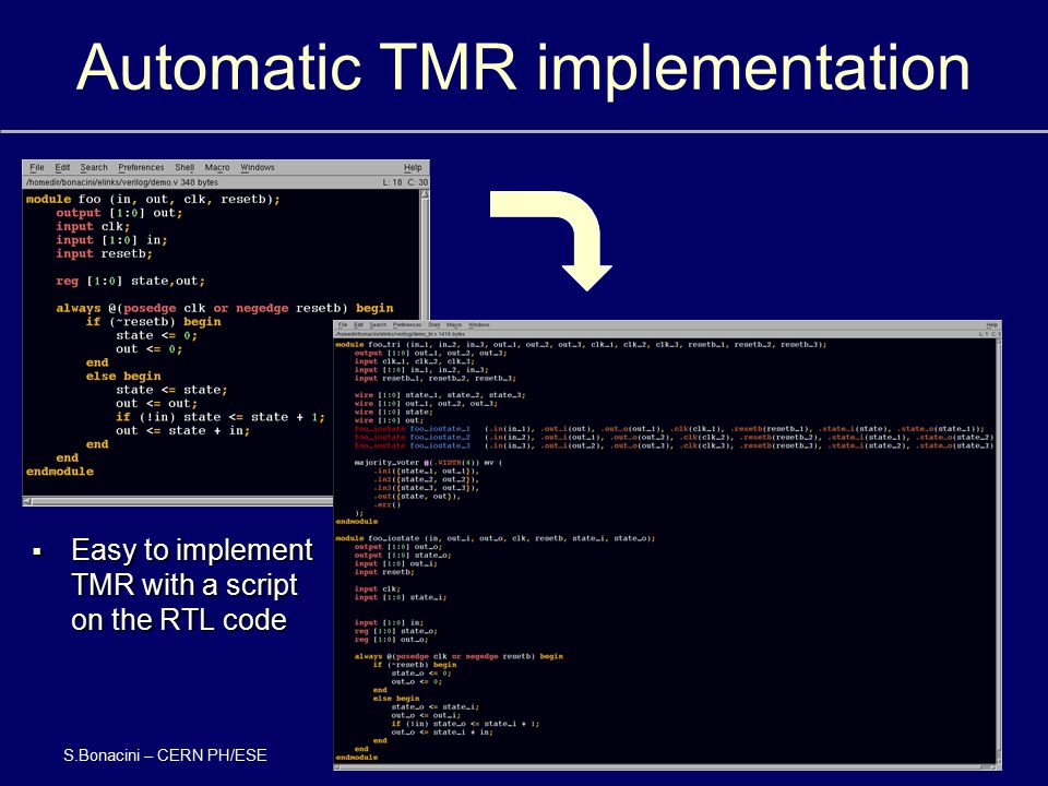 Automatic TMR implementation