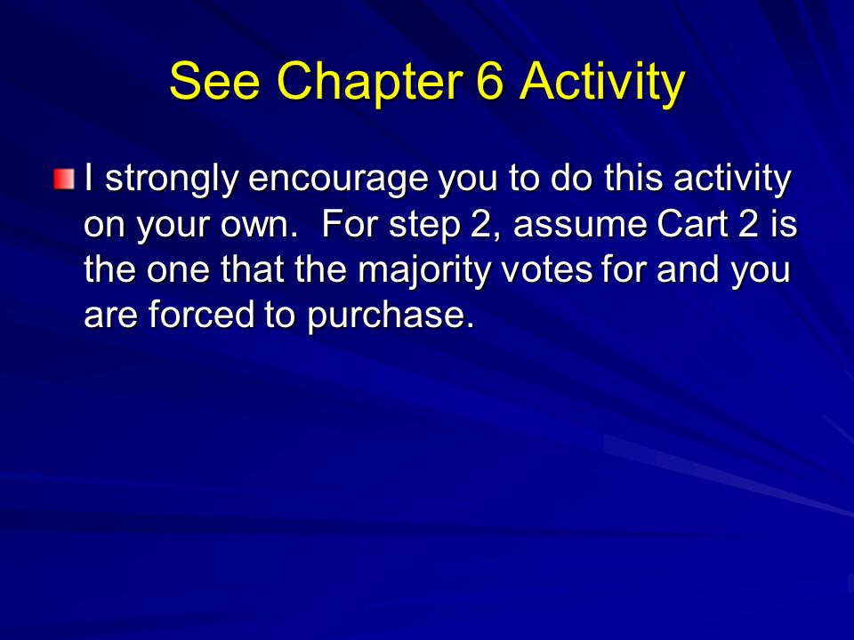 See Chapter 6 Activity
