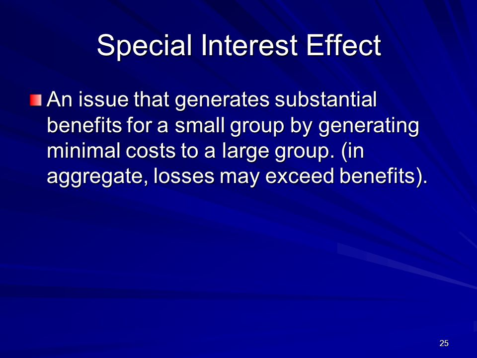 Special Interest Effect