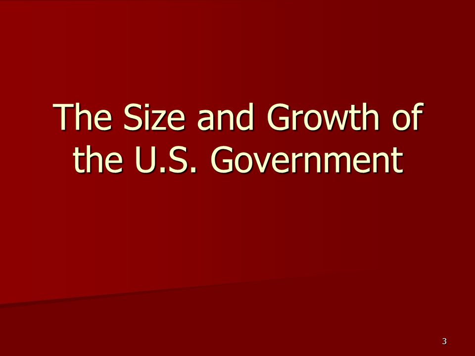 The Size and Growth of the U.S. Government