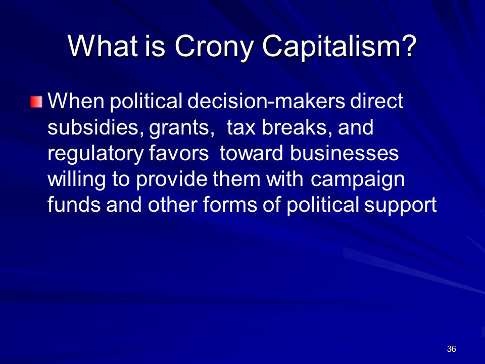 What is Crony Capitalism