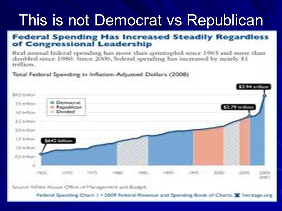 This is not Democrat vs Republican