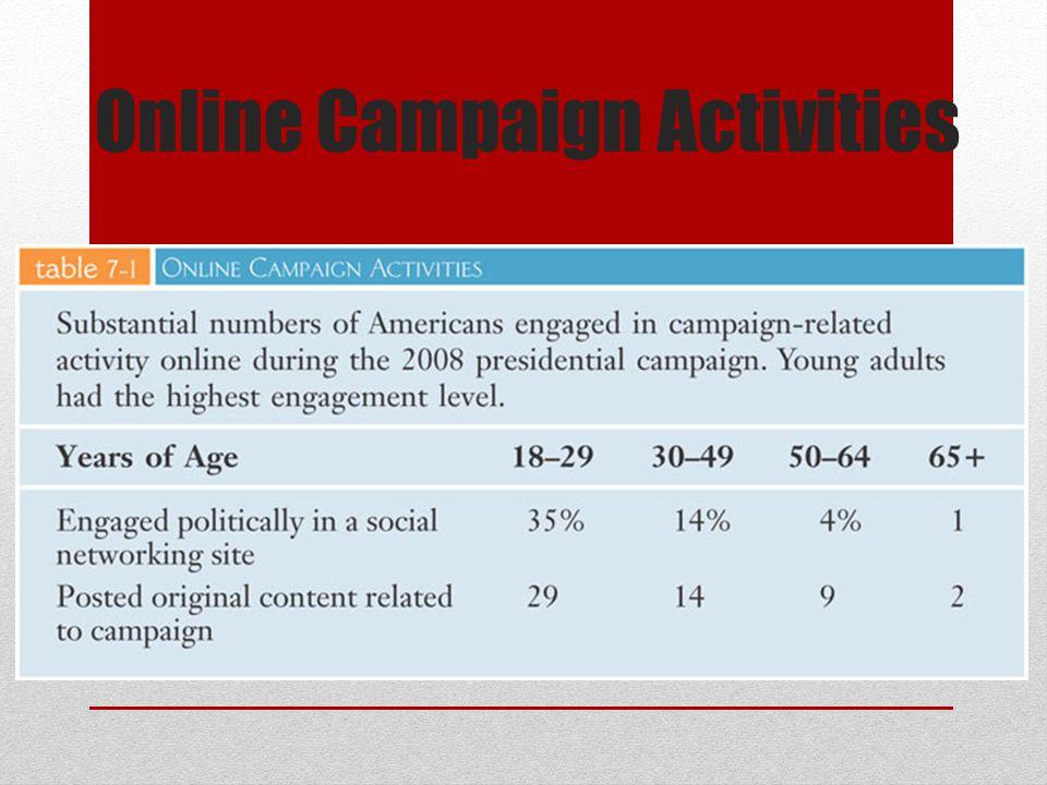 Online Campaign Activities