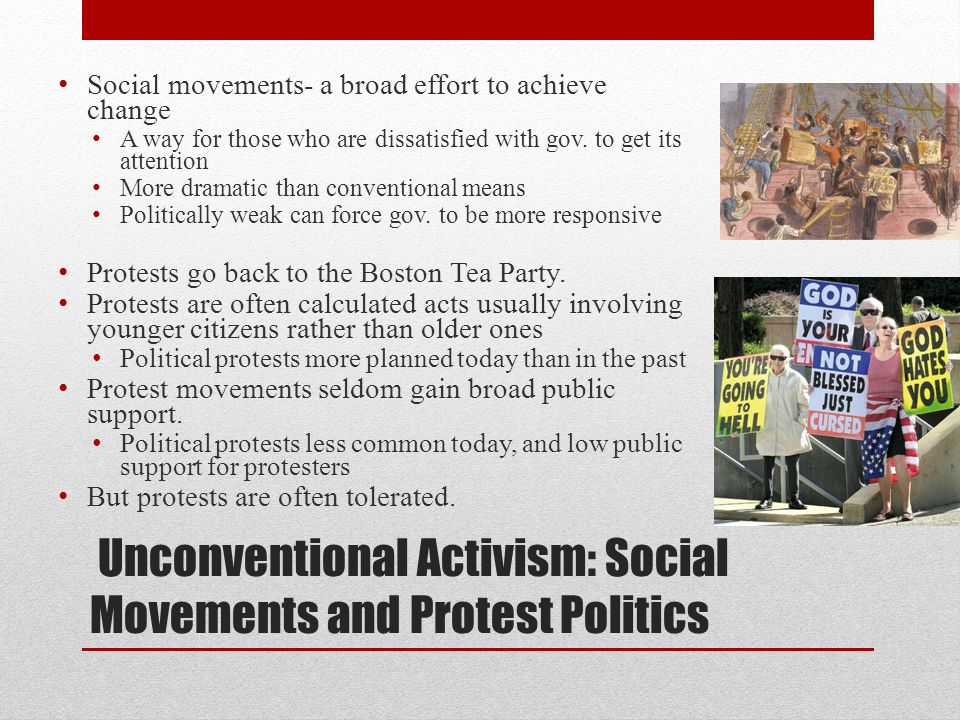 Unconventional Activism: Social Movements and Protest Politics