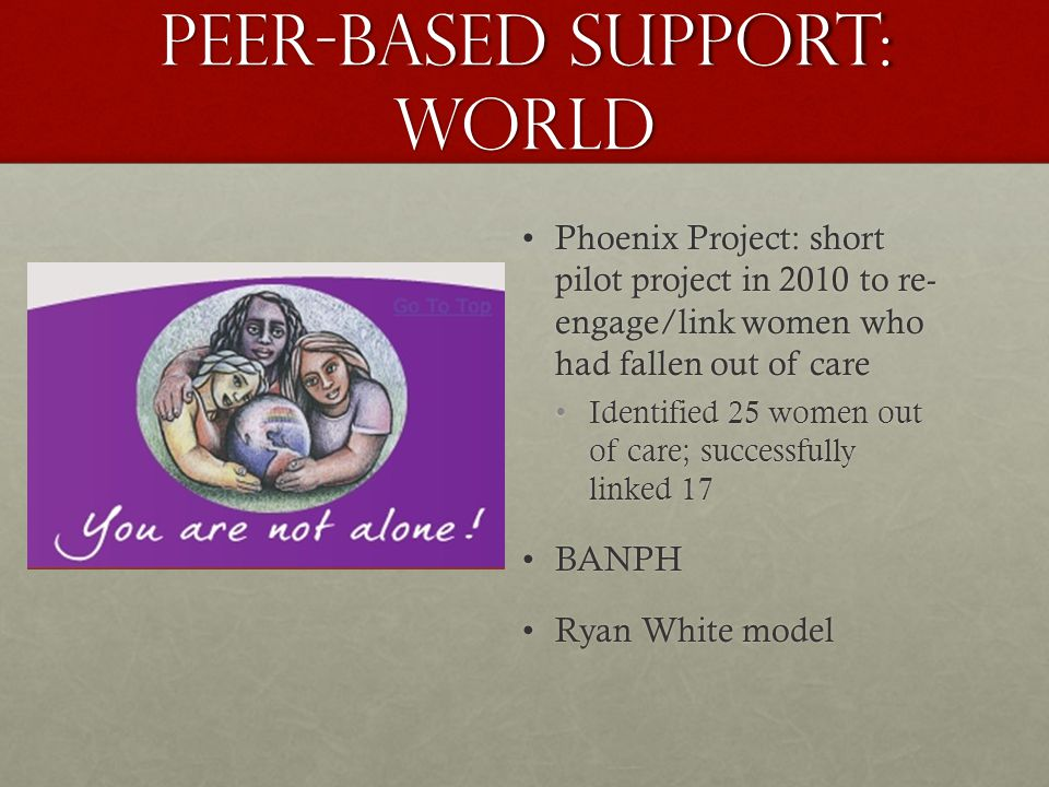 Peer-based support: WORLD