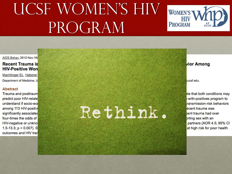 UCSF Women's HIV Program