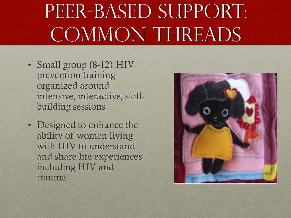 Peer-based support: common threads