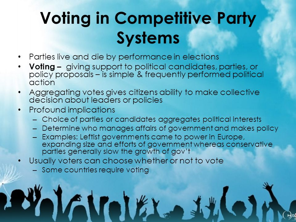 Voting in Competitive Party Systems