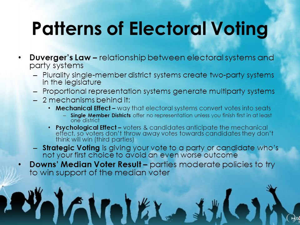 Patterns of Electoral Voting