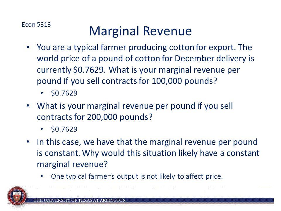 Econ 5313 Marginal Revenue.