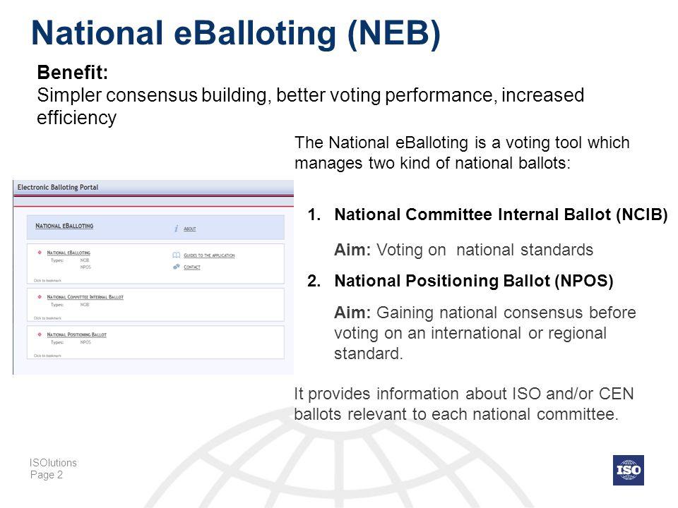 National eBalloting (NEB)