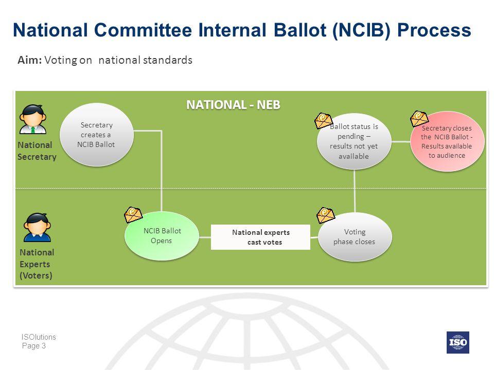 National Committee Internal Ballot (NCIB) Process