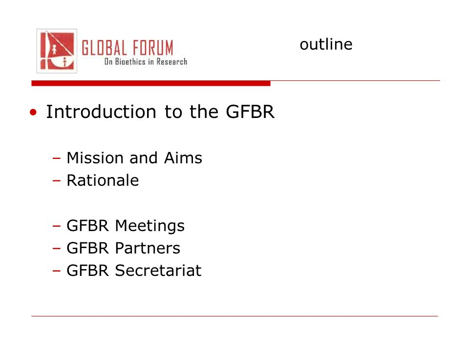 Introduction to the GFBR