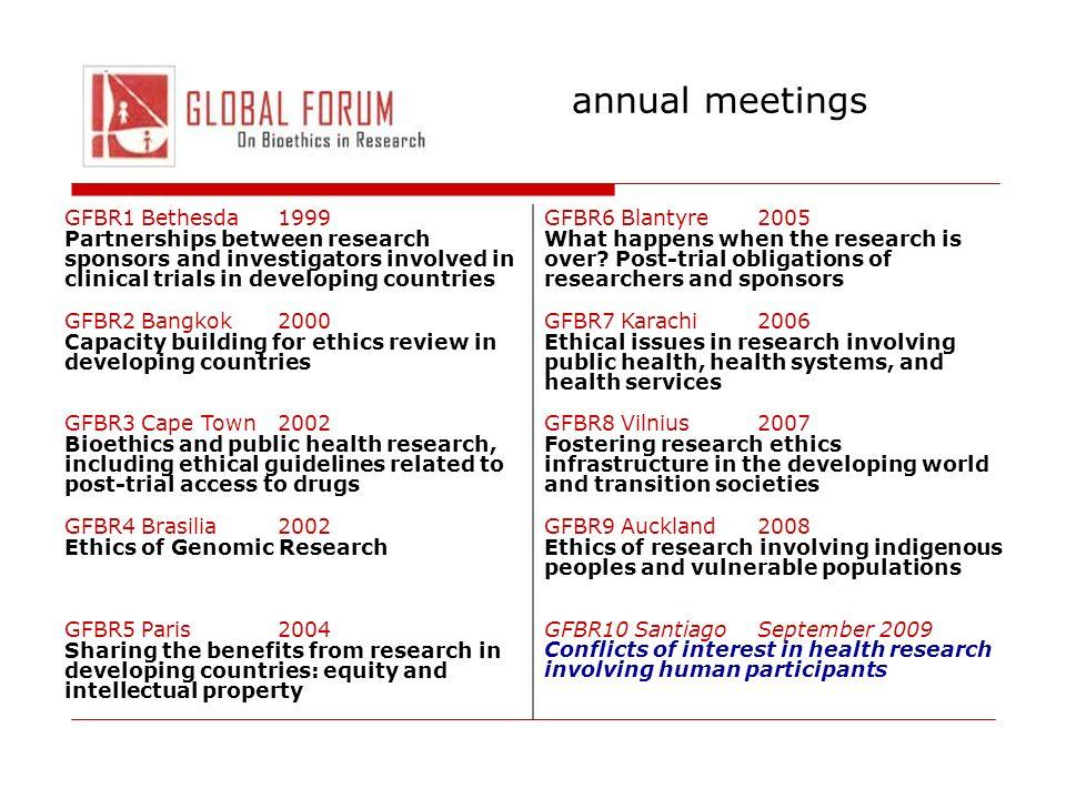annual meetings GFBR1 Bethesda 1999