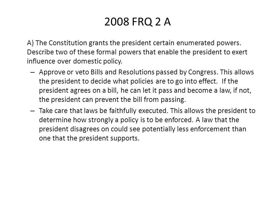 2008 FRQ 2 A