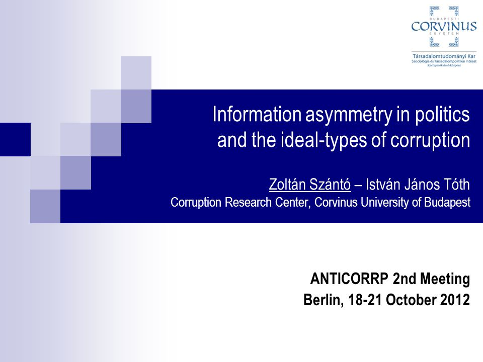 ANTICORRP 2nd Meeting Berlin, 18-21 October 2012