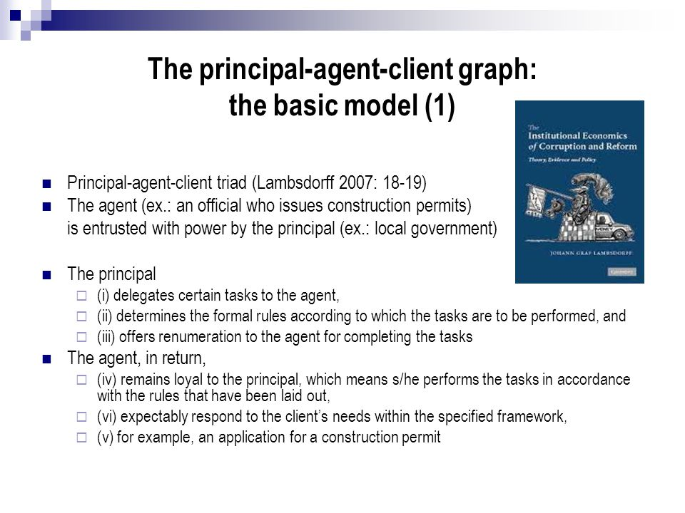 The principal-agent-client graph: the basic model (1)