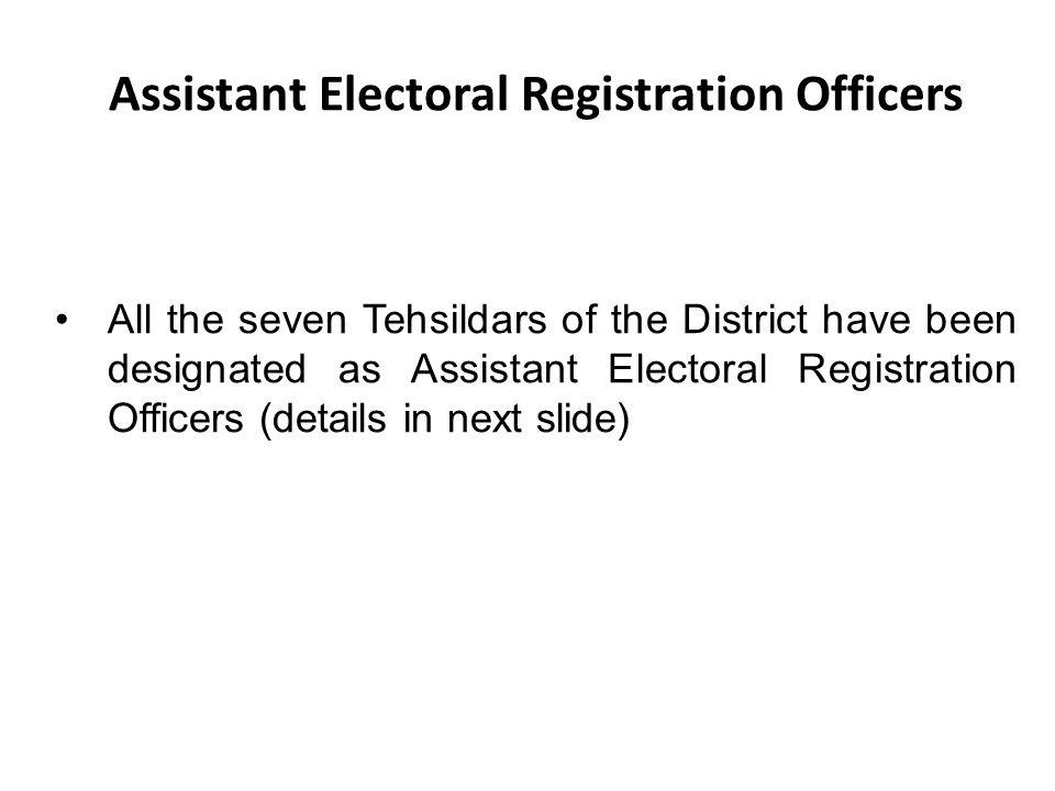 Assistant Electoral Registration Officers