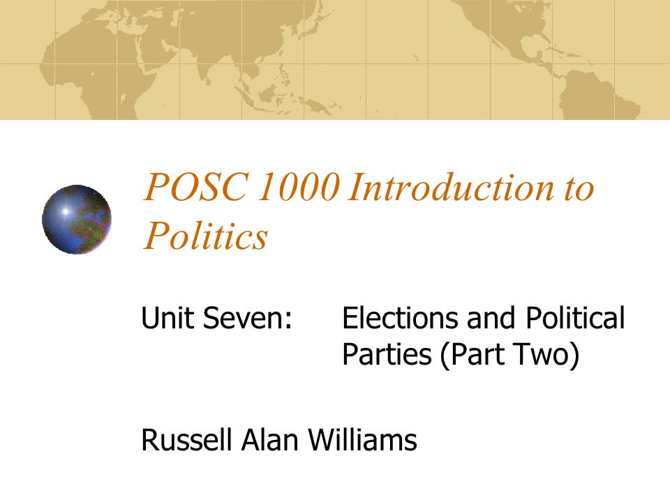 POSC 1000 Introduction to Politics