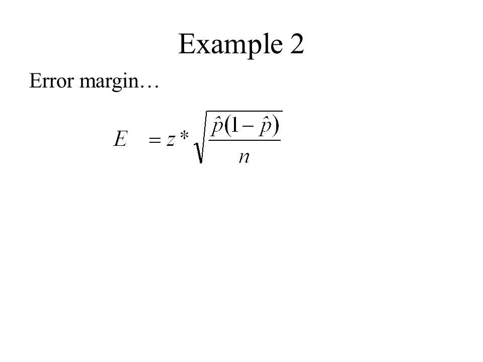Example 2 Error margin…