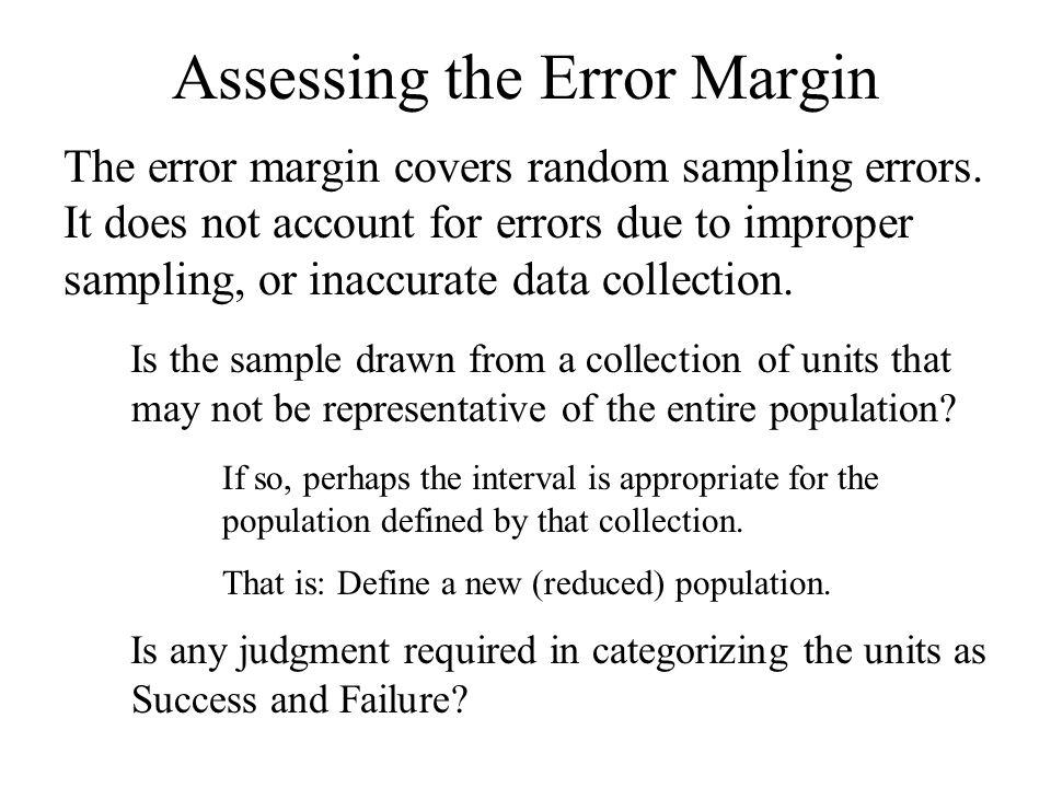 Assessing the Error Margin