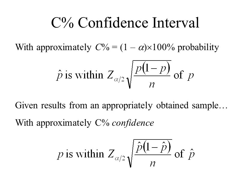 C% Confidence Interval