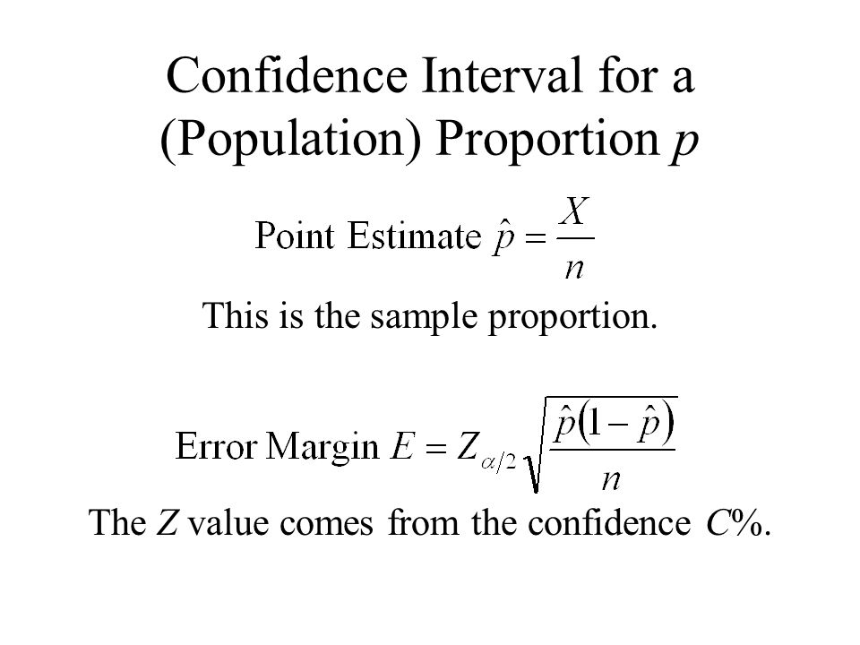 Confidence Interval for a (Population) Proportion p
