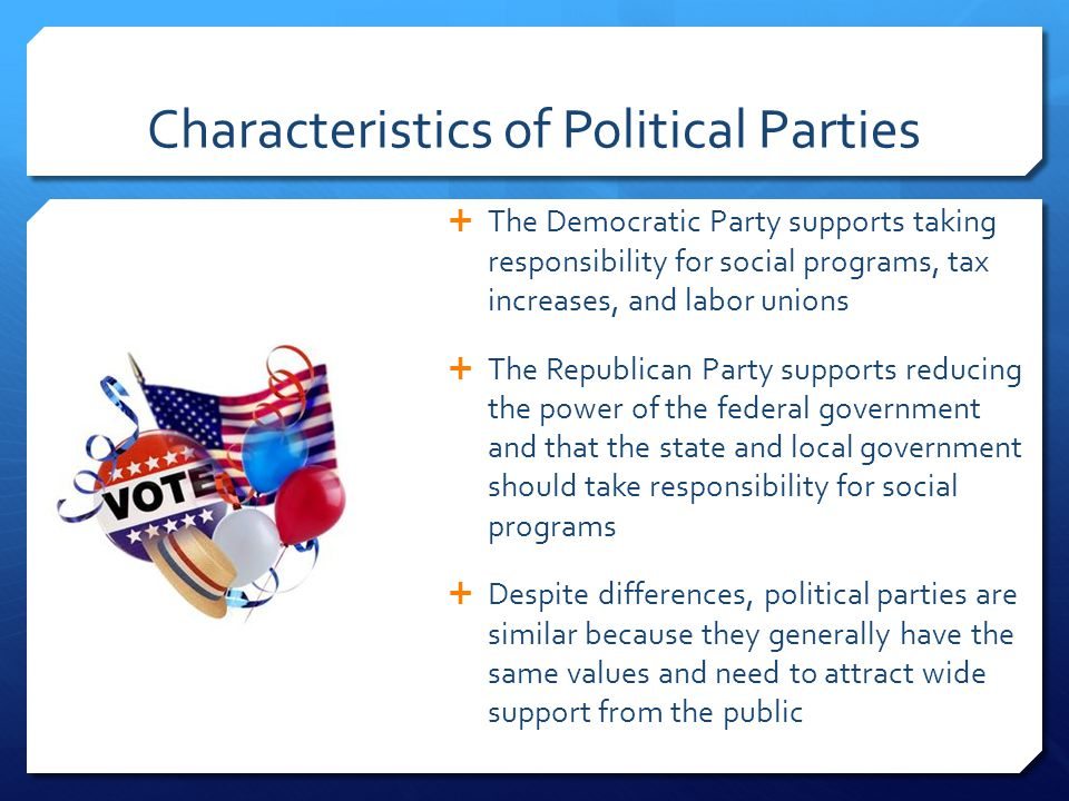 Characteristics of Political Parties