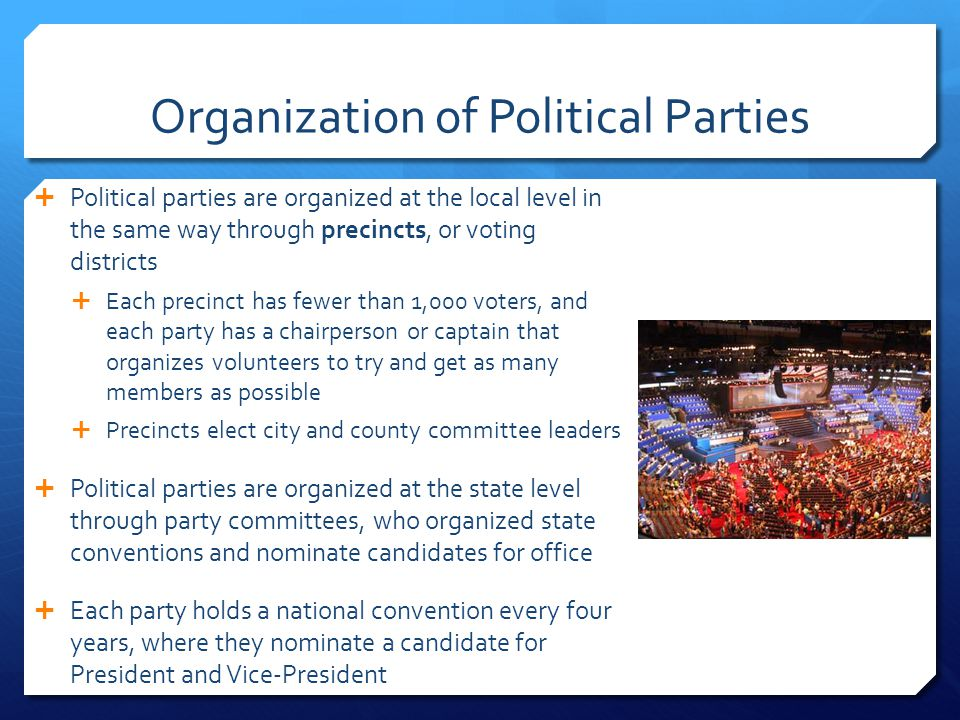 Organization of Political Parties