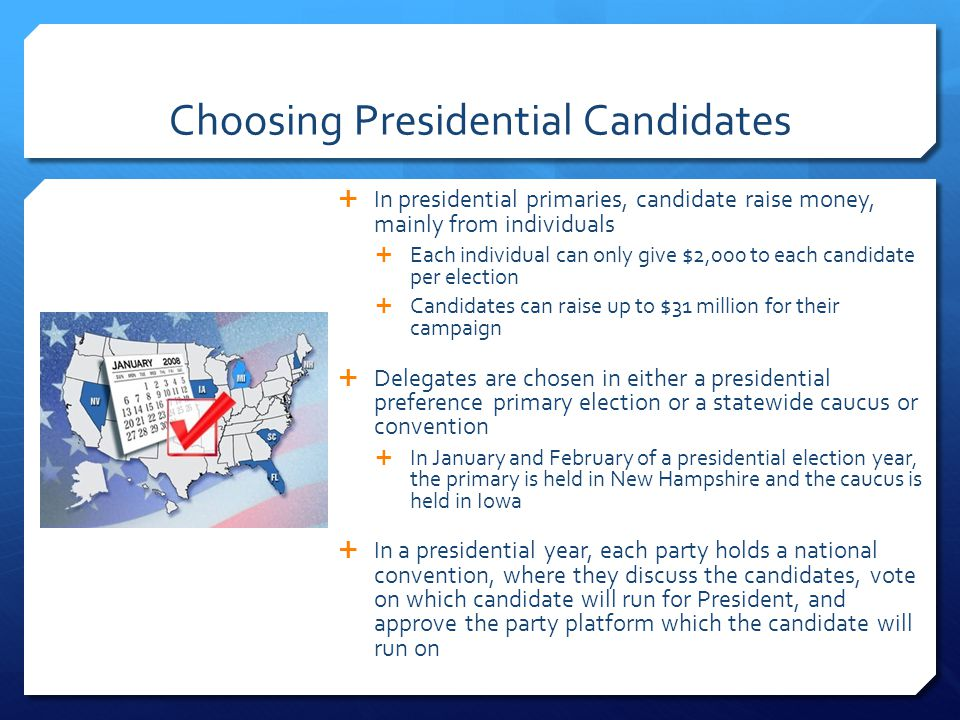 Choosing Presidential Candidates