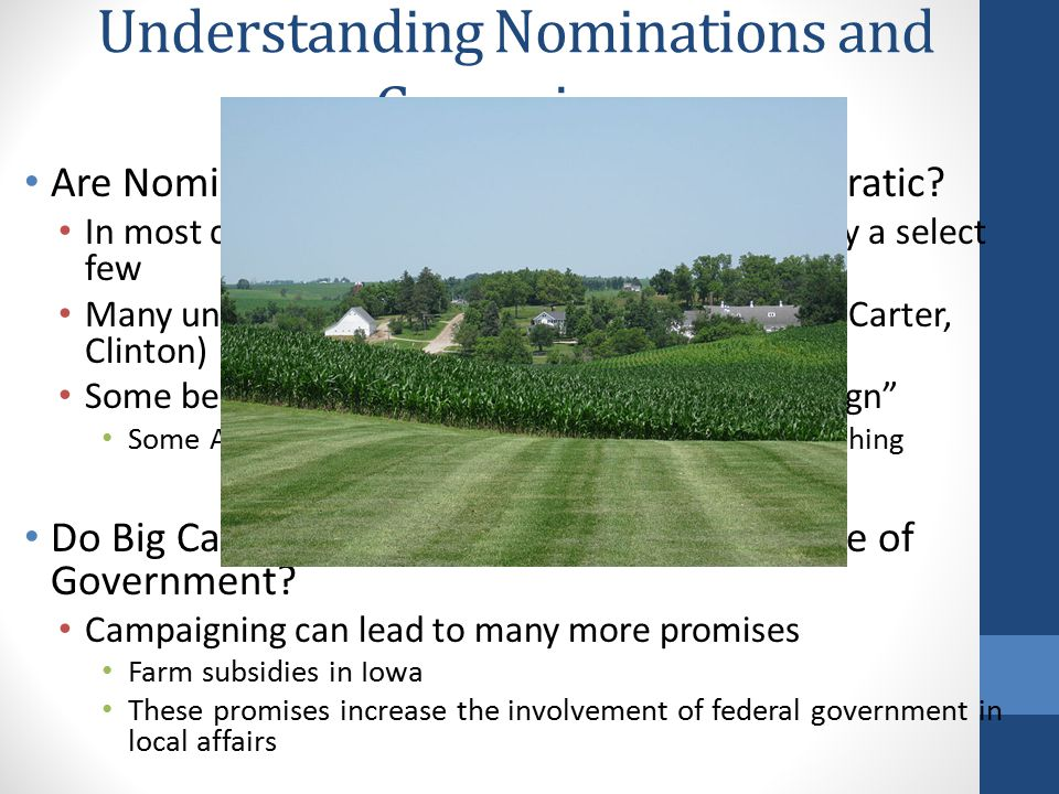 Understanding Nominations and Campaigns