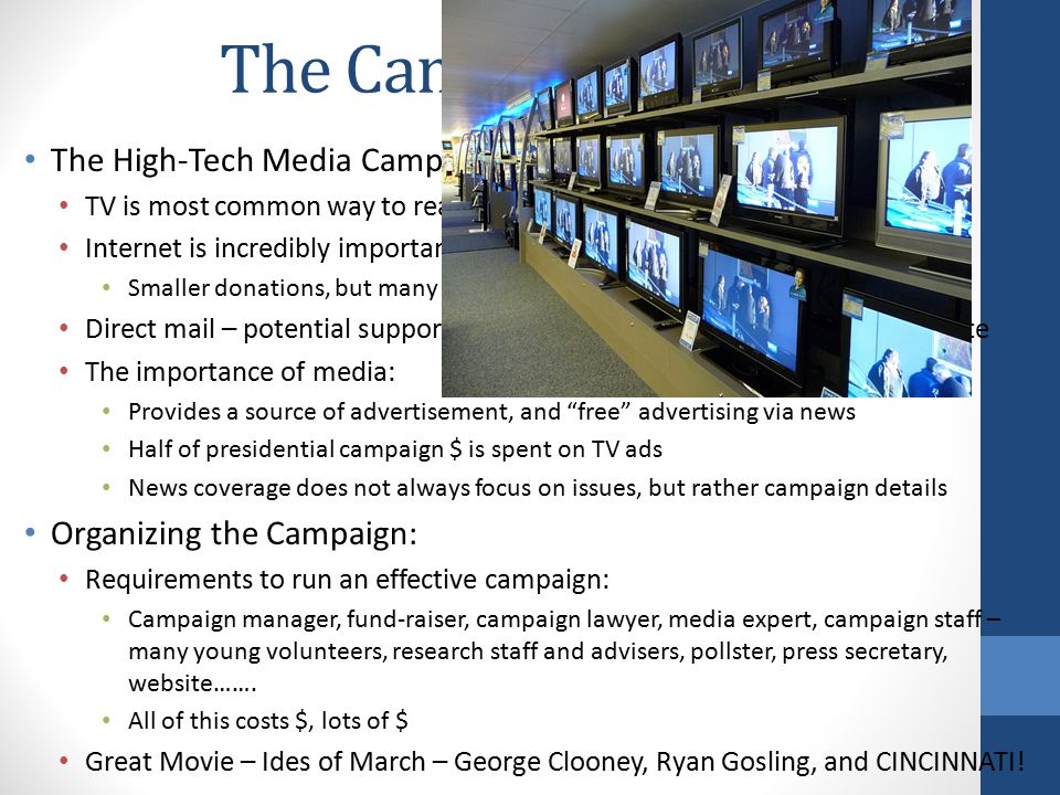 The Campaign Game The High-Tech Media Campaign: