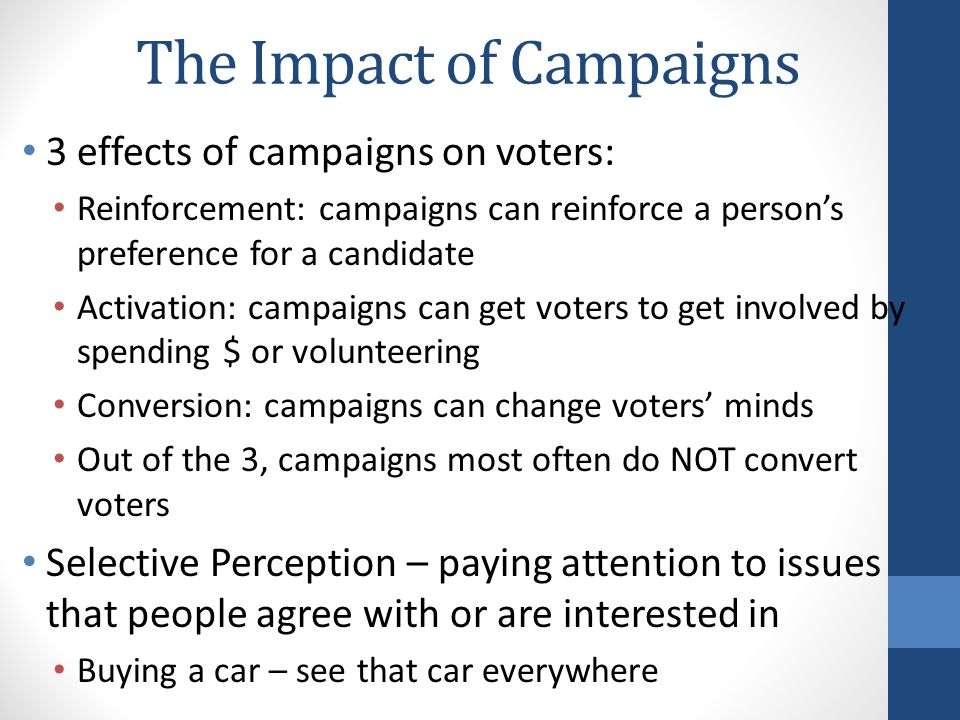 The Impact of Campaigns