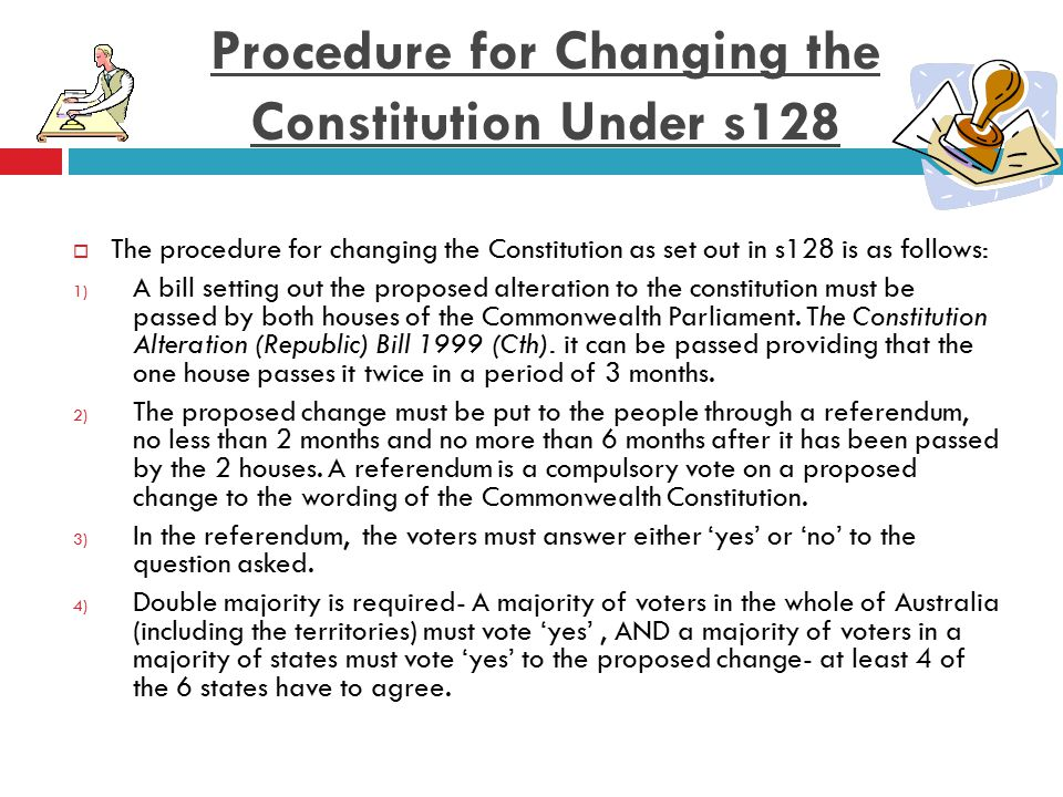 Procedure for Changing the Constitution Under s128