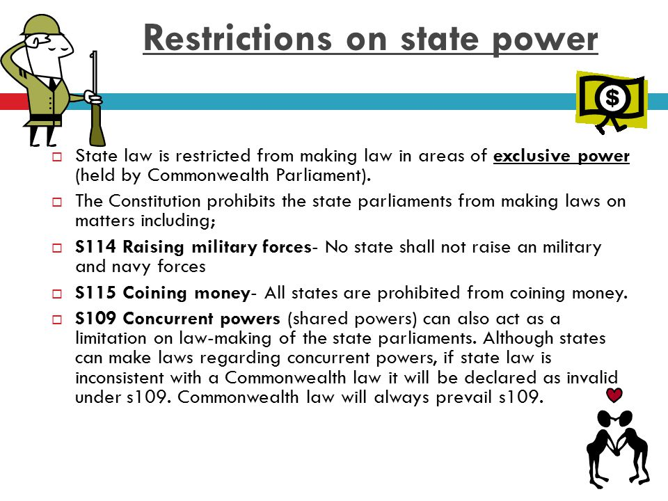 Restrictions on state power
