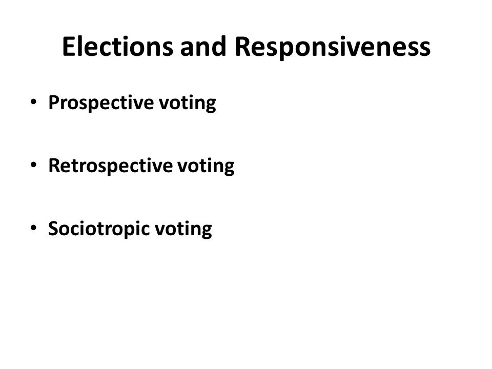 Elections and Responsiveness
