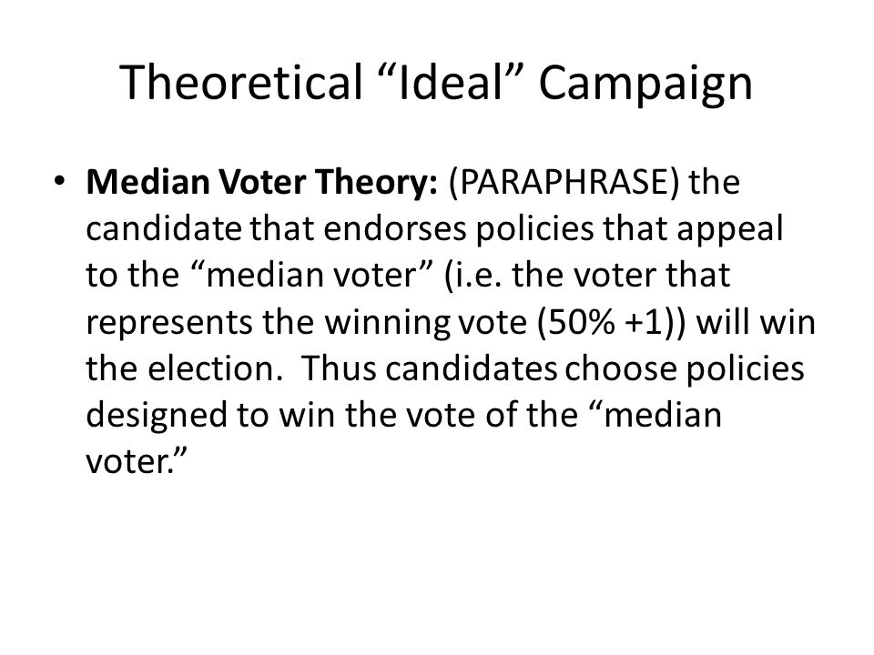 Theoretical Ideal Campaign