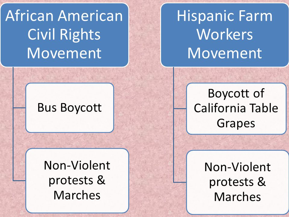 African American Civil Rights Movement Hispanic Farm Workers Movement