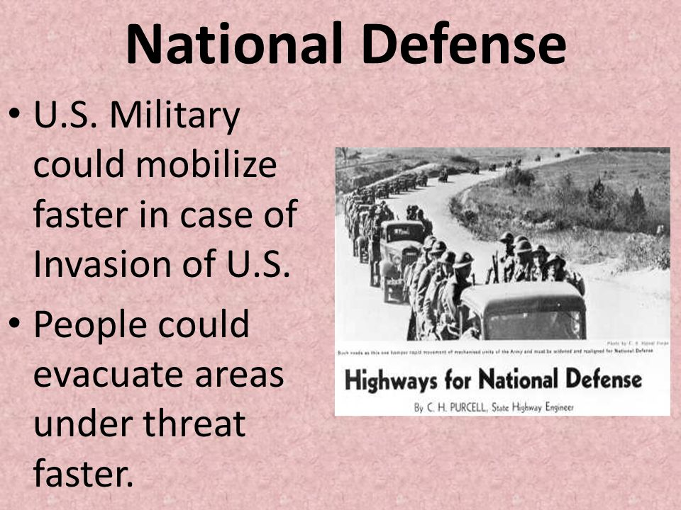 National Defense U.S. Military could mobilize faster in case of Invasion of U.S.