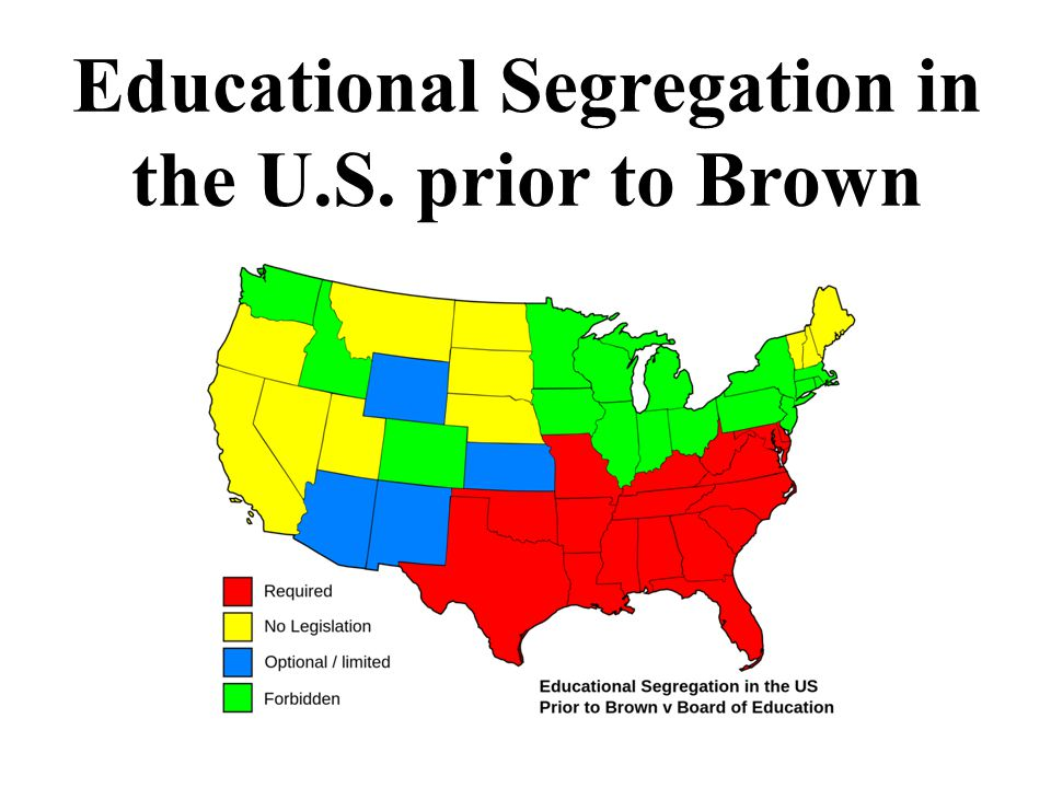 Educational Segregation in the U.S. prior to Brown