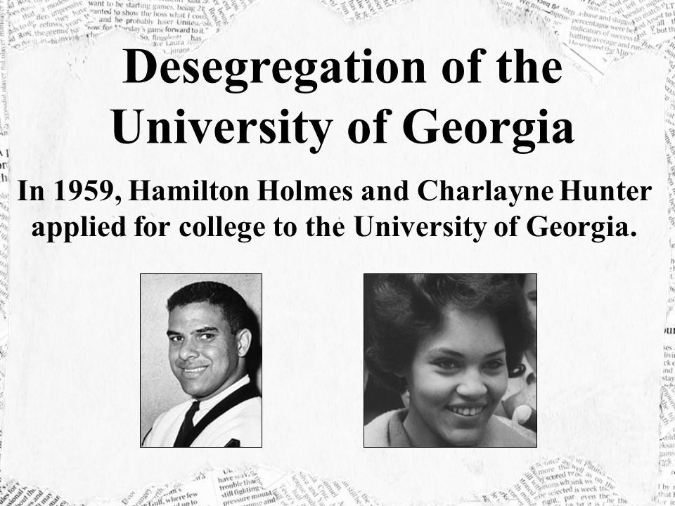 Desegregation of the University of Georgia