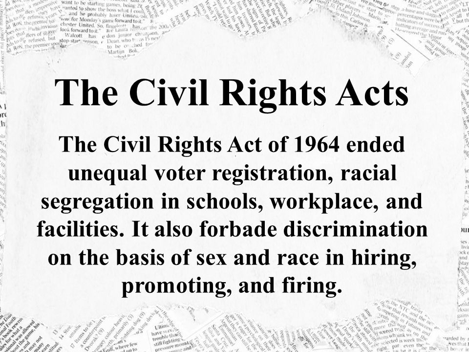 The Civil Rights Acts