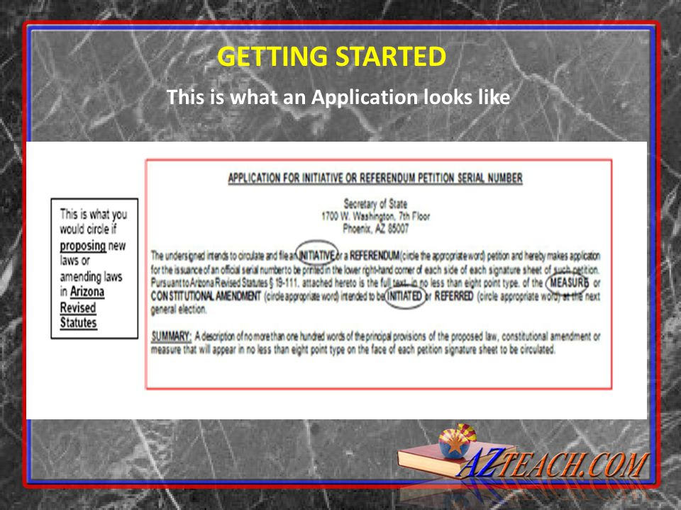 This is what an Application looks like